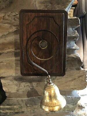Vintage Brass Door Bell , Butlers Ringing Traditional Bell 6-12 Volts GWO.
