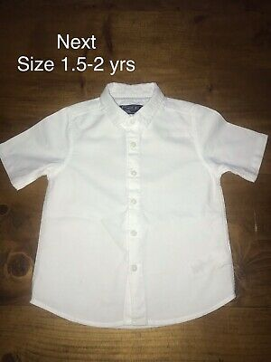 NEXT White Boys Shirt Age 1.5-2 Years Worn Once 18-24 Months