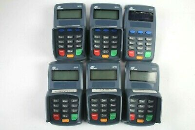 PAX SP20 Credit Card Terminals w/Keypads and Guards(SP20-130-4E0) (Lot of 6)