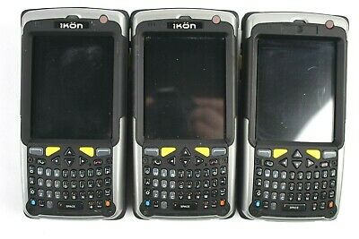 Psion Teklogix Ikon 7505 Handheld QWERTY Scanners w/SD/MicroSD Slots (Lot of 3)