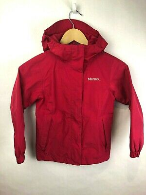 Marmot Light Jacket Girls Youth Extra Small Pink Hooded