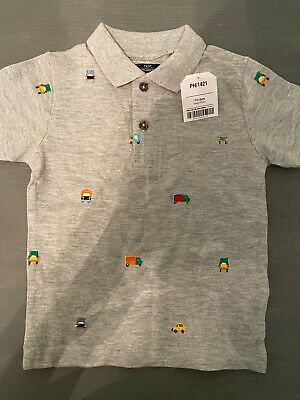 Toddler / Baby Boys Next Gray Polo SiE 18-24 Months Brand New With Tags