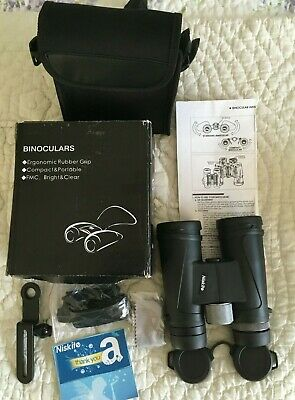 HD binoculars 12x42mm New In Box With Case And Strap