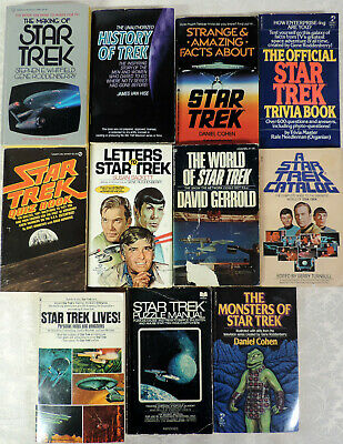 LOT Non Fiction books: Making & History of Star Trek – Trivia – Quiz – 11 books