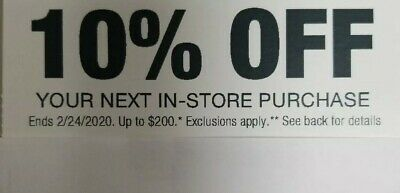 Home Depot 10% OFF Coupon Save up to $200-In-store purchase . exp 3/4/20