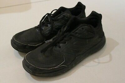 ADIDAS Kids Youth Lace trainers BLACK School shoes runners US 5 UK4.5