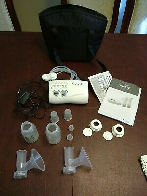 Ameda finesse double electric Breast Pump with flanges, valves, tubing, bottles