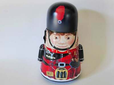 Walkers Wobbly Piper Tin, Scottish Bagpiper, Vintage Biscuit Tin, Scotland Made