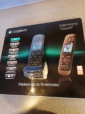 New SEALED Logitech Harmony Touch Remote Control Black 915-000252 15X 2014 NICE!