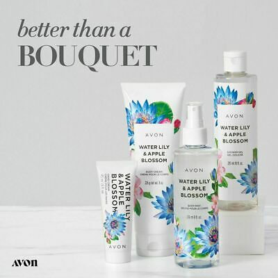 Avon Complete 4  Piece Water Lily & Apple Blossom Bath & Body Gift Set New