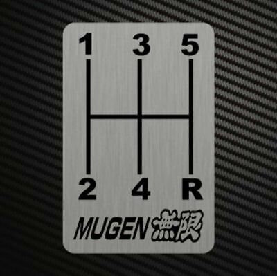 MUGEN GEARSHIFT H-PATTERNS Sticker Decal Gearbox Transmission Manual Race Rally