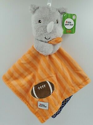 Kids Preferred Football Security Blanket, Baby Shower Gift, Sports, Orange