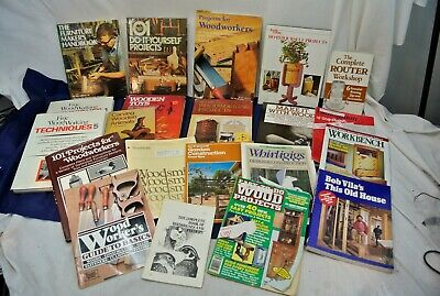 Wood Working, Do-It-Yourself Books, Large Lot, As Listed Below