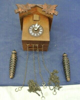 Vintage Cuckoo Clock, Made In Switzerland, For Parts Only
