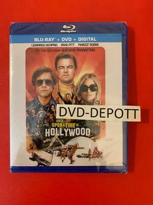 ONCE UPON A TIME IN HOLLYWOOD BLU-RAY + DVD + DIGITAL HD New FAST Free Shipping