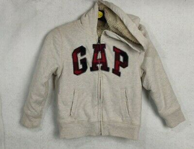 Gap Boys Hooded Jumper Jacket Thick Lined Fit Age 5-years Beige casual winter