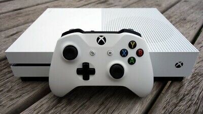 Microsoft Xbox One S 1TB Console - White W/Controller And Plug N Play Battery