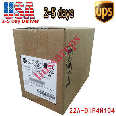 2018/2019 Allen-Bradley PowerFlex 4 0.4 kW 0.5 HP AC Drive 22A-D1P4N104 US SHIP