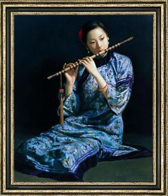 """Hand-painted Original Oil painting art Portrait chinese girl On Canvas 24""""X36"""""""