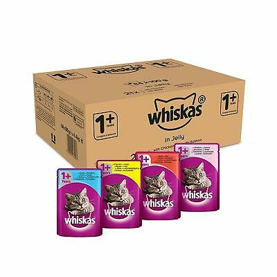 ✅ 84 x Whiskas Wet Cat Food Pouches for 1+ Adult Mixed Selection in Jelly ✅