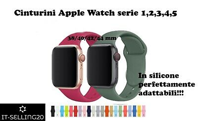 Cinturino Apple Watch Serie 1 - 2 - 3 - 4 - 5 38/40/42/44 mm in silicone