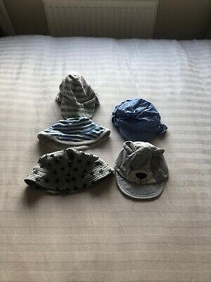 Baby Boys 0-3 Months Summer Hats X5