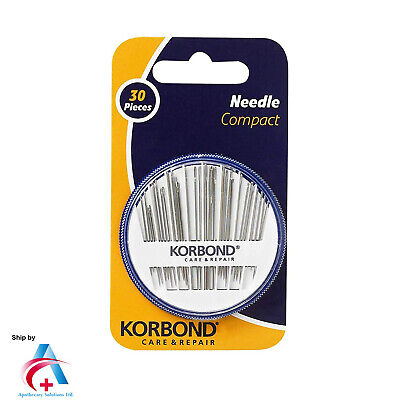 Korbond Needle Compact-30pc For Hand sewing
