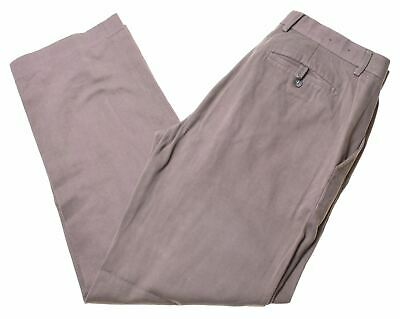 BANANA REPUBLIC Mens Suit Trousers W34 L32 Grey Cotton Modern Fit  KK07