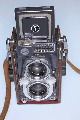 Yashica 44LM 127 roll film TLR camera with brown case Light meter not working