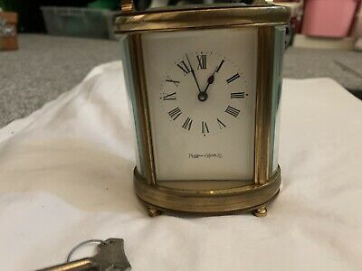 Beautiful- Mappin & Webb  Rare Oval Carriage Clock- Cleaned & Serviced +Key