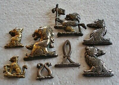 Antique Horse Brass - An Interesting Selection Of Heraldic Harness Decorations