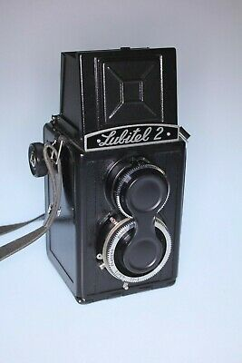 Lubitel 2 With black case and instruction TLR 6x6 120 roll film