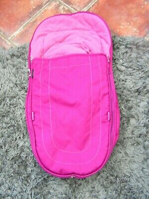 ICANDY peach  3 main seat  footmuff cosytoes fuchsia pink