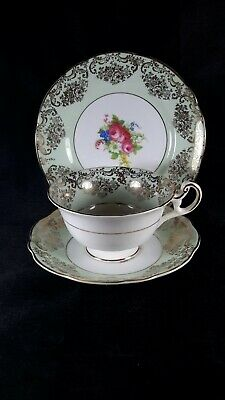 Vintage side plate, tea cup & saucer, EB Foley china, made in England