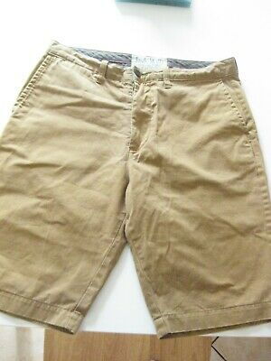 Jack Wills Mens Button Fly Front Shorts, Sand Colour, Large