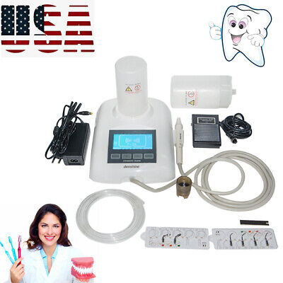 Dental LCD Piezo Ultrasonic Scaler Digital Display Self Tool+Water 2Bottles Bid