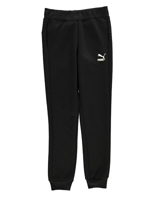 PUMA Girls Black No1 Logo Joggers Pants 13-14 Years BNWT