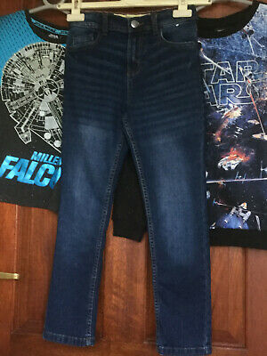 Denim & Co. Skinny Jeans and Star Wars Sweatshirt and T Shirt age 8-9 years Boys