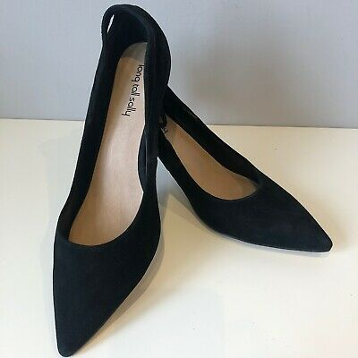 Long Tall Sally Size UK8 Ladies Black Suede Shoes Stiletto Heels EUR42 USA10