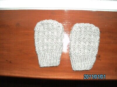 New Hand Knitted Aran Mitts for baby approx 9 months