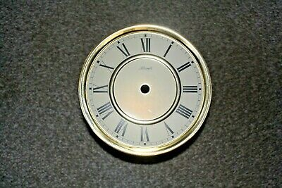"Vintage Hermle wall clock 6 "" dial/face Roman numerals for spares/repairs/parts"