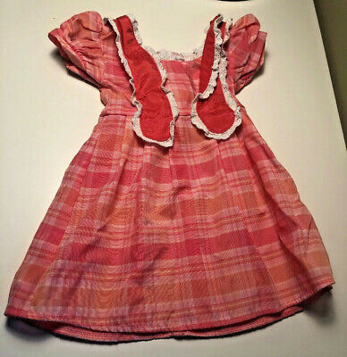 American Girl Doll Marie Grace Meet Dress Plaid Pink Outfit