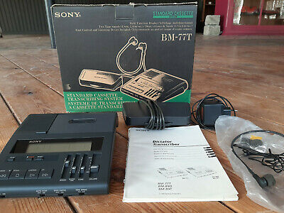SONY, BM-77T, STANDARD CASSETTE TRANSCRIBING SYSTEM - good condition - with box