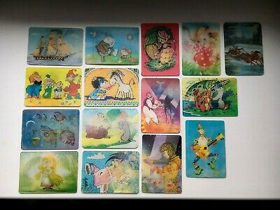 1991 animals and people Pocket Stereo Calendars 3D Soviet USSR Set of 2 Soviet Vintage Stereo Calendars Soviet Russian Cartoon Heroes