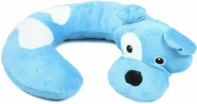Kids Northpoint Animal Character Travel~ Relax Stroller Neck Pillow, Blue Dog