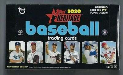 2020 Topps Heritage Baseball Factory Sealed Hobby Box 24 Packs Per Box