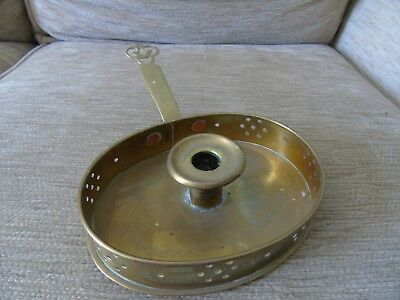 arts and crafts brass candle chamberstick