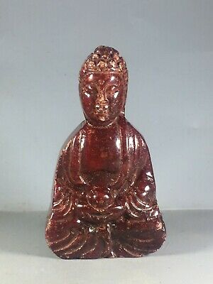 Chinese old natural jade hand-carved buddha statue pendant