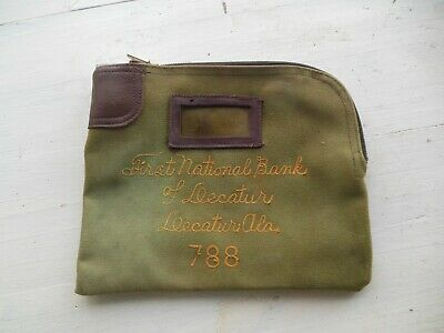 Vintage Rifkin Arco Loc Bank Deposit Bag FIRST BANK OF Decatur Alabama