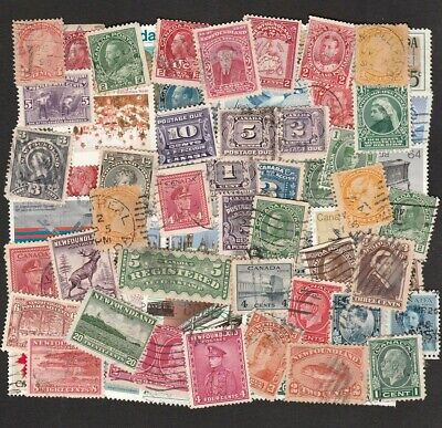 Newfoundland & Canada Large Selection Of Stamps From Queen Victoria To Qe2